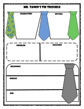Mr. Tanen's Tie Trouble Story Map Graphic Organizer