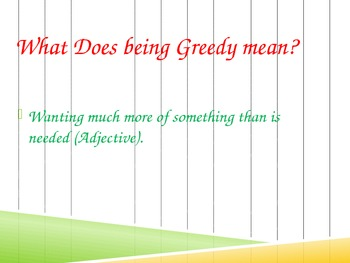 Vocabulary Talk: GREEDY