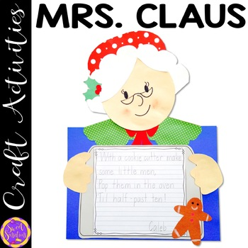 Mrs. Claus Christmas Craft Activity