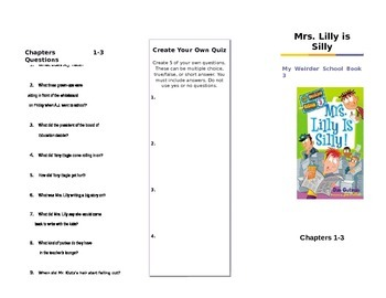 Mrs. Lilly is Silly by Dan Gutman Trifold