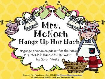 Mrs. McNosh Hangs Up Her Wash – Speech and Language Activi