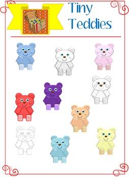 Mrs. Treasure Trove Tiny Teddies Clipart