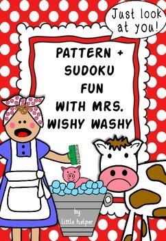 Mrs Wishy Washy  cut and paste sudokus and pattern fun