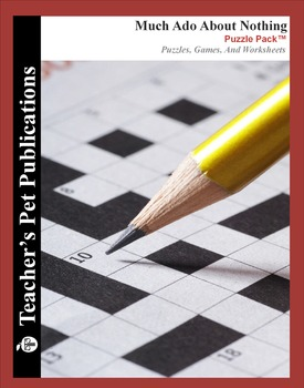 Much Ado About Nothing: Puzzle Pack - Crosswords, Workshee
