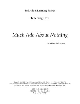 Much Ado About Nothing Teaching Unit