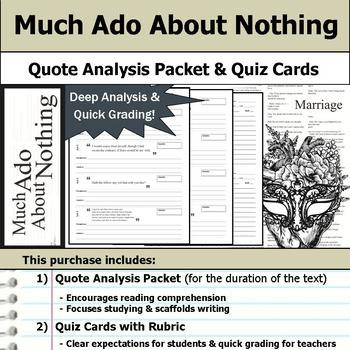 Much Ado About Nothing by William Shakespeare - Quote Anal