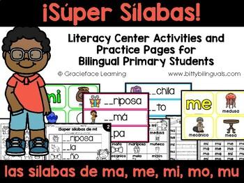 Muchas sílabas – Spanish phonics activities for ma, me, mi