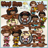Mud Run Clip Art - Mudder Kids Clip Art - CU Clip Art & B&W