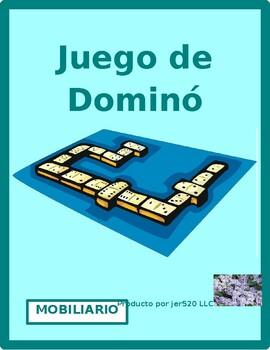 Muebles (Furniture in Spanish) Dominoes