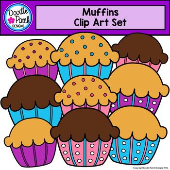 Muffins Clip Art Set - Doodle Patch Designs
