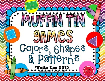 Muffin Tin Games {Colors, Shapes, & Patterns}