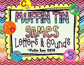 Muffin Tin Learning Games {Letters & Sounds}