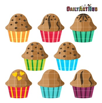 Muffins Clip Art - Great for Art Class Projects!