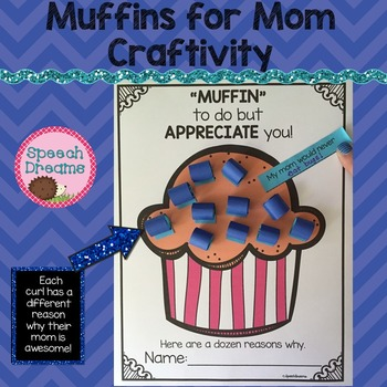 Muffins for Mom Craftivity {Aunt Grandma Craft}