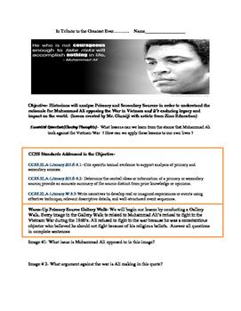 Muhammad Ali Tribute Lesson