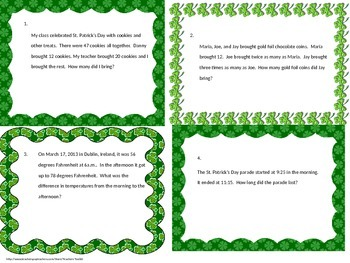 Mulit-step Word Problems Test Prep Task Cards Common Core