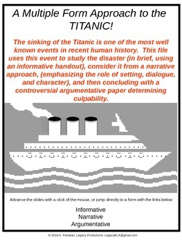 Mult Genres \ Forms: Titanic_Central Idea Summary Evidence