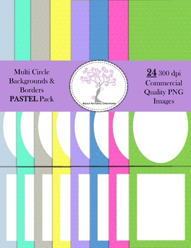 Multi Circle Backgrounds and Borders PASTEL Pack