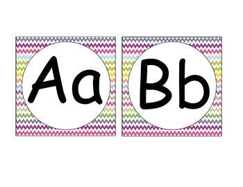 Multi-Color Chevron Letter Squares