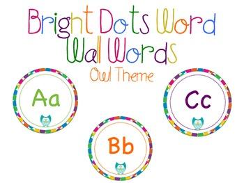 Multi Color Owl Word Wall Headers
