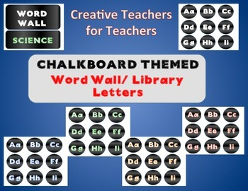 Multi-Color Round Chalk Themed Alphabet Letters (Bundle)