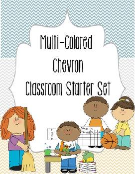 Multi-Colored Chevron Classroom Jobs/Specials Set