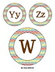 Multi-Colored Chevron Word Wall Letter Cards with Brown Font