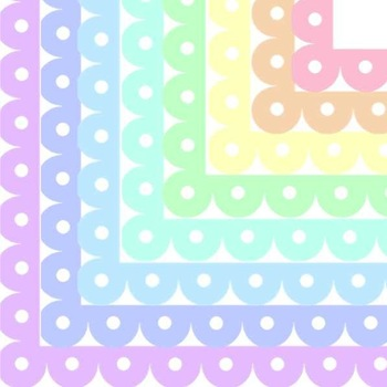 Multi-Colored Pastel Lace Frames/Borders {Personal or Comm