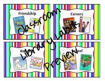 Multi-Colored Stripe Classroom Label Bundle Pack