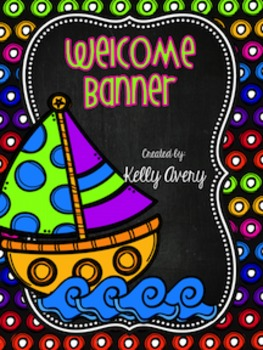 **FREEBIE** Multi-Colored Welcome Banner