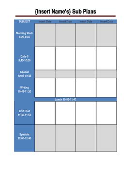 Multi-Day Substitute Plans