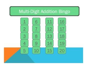 Multi-Digit Addition Bingo