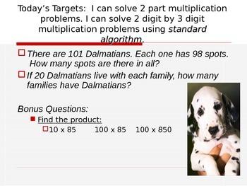 Multi-Digit Mulitplication Story Problems Entry Task Power