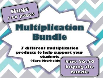 Multi-Digit Multiplication Bundle - 7 total products