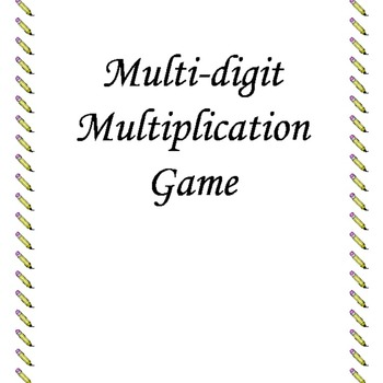 Multi-Digit Multiplication Game