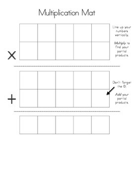 Multi-Digit Multiplication Mat