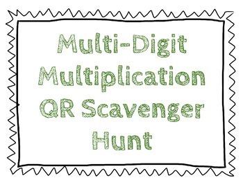 Multi-Digit Multiplication QR Scavenger Hunt
