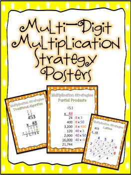 Multi Digit Multiplication Strategy Posters by Teaching With a ...