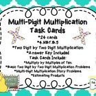 Multi-Digit Multiplication Task Cards (2 Digit by 2 Digit)
