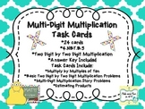 Multi-Digit Multiplication Task Cards (2 Digit by 2 Digit)