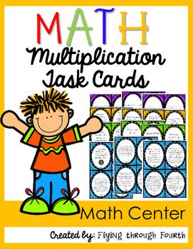 Multi-Digit Multiplication Task Cards {4.OA.1 4.OA.2 4.OA.