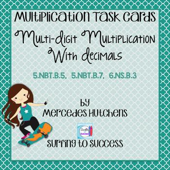 Multi-Digit Multiplication with Decimals Task Cards