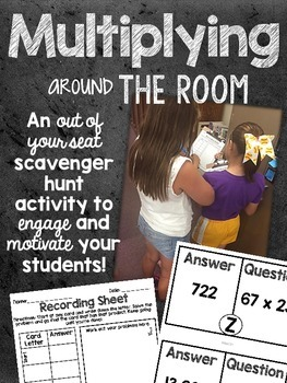 Multi-Digit Multiplying around the Room- Scavenger Hunt Activity