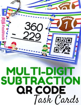 Multi-Digit Subtraction QR Code Fun