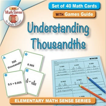 Multi-Match Game Cards 5B: Understanding Thousandths