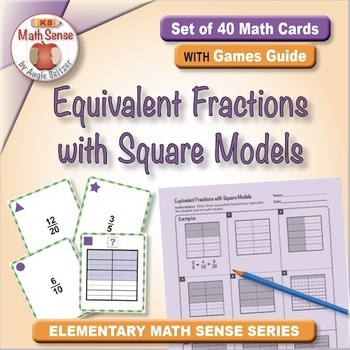 Multi-Match Game Cards 5F: Equivalent Fractions with Squar