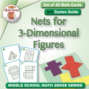 Multi-Match Game Cards 6G: Nets for 3-Dimensional Figures