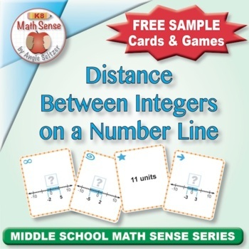 Multi-Match Game Cards 7N: Distance Between Integers on a