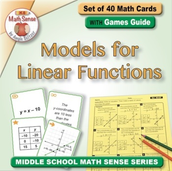 Multi-Match Game Cards 8E: Models for Linear Functions