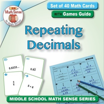 Multi-Match Game Cards 8N: Fractions as Repeating Decimals